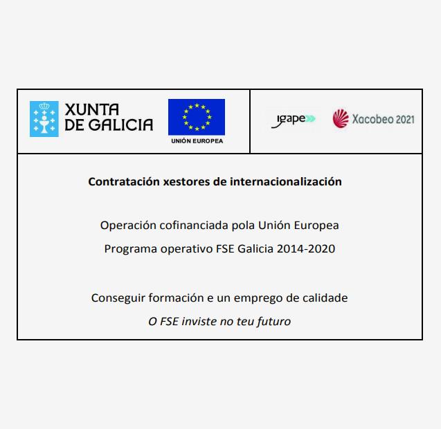 PROYECTO COFINANCIADO POR IGAPE, XUNTA DE GALICIA Y POR EL PROGRAMA OPERATIVO FSE GALICIA 2014-2020